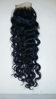 Curly Lace Closure 18""