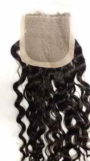 Curly Wavy Silk Based Closure 18""