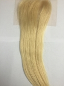 Russian Platinum Straight Lace Closure 18""