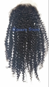 Mongolian Kinky Curly Lace Closure 18""