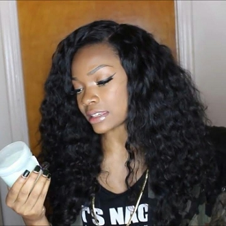 Deep Curly Silk Based Closure 18""